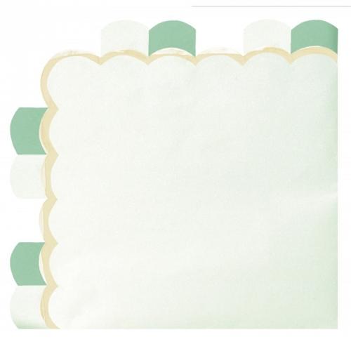 16 Serviettes Vert Pastel