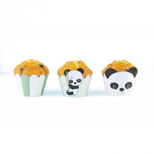 6 Caissettes Cupcakes - Baby Panda