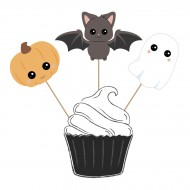 3 Cake Toppers Halloween