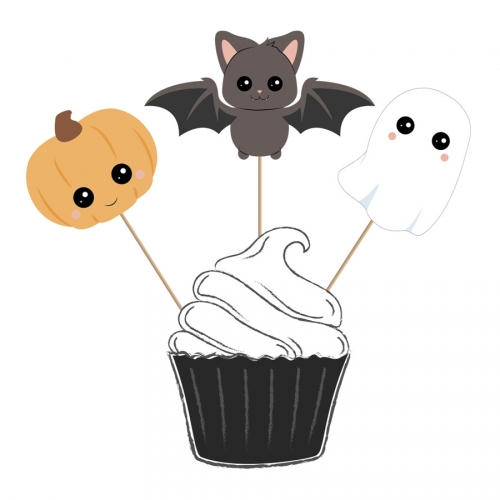3 Cake Toppers - Sweety Halloween