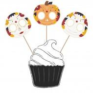 3 Cake Toppers  Dia De Los Muertos