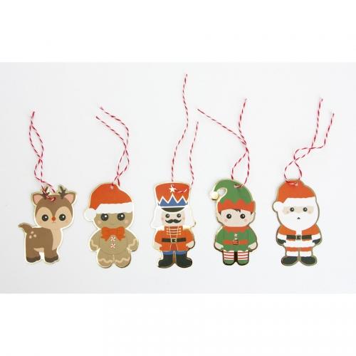 10 Etiquettes cadeaux Noël (8 cm)