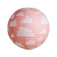 Lanterne Nuage Rose - 35 cm