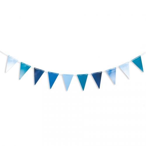Guirlande Fanions Bleu - 3 m