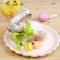 8 Assiettes Festonnées Pastel Assortis et Or images:#2