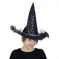 Chapeau de Sorcière Etoiles Irisées Luxe - Enfant