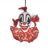 Suspension Tête de Clown de l'Horreur Lumineuse - 40 cm