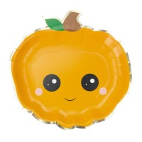 Contient : 1 x 8 Assiettes Citrouille Sweety Halloween