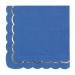 Contient : 1 x 16 Serviettes Festonnées Bleu et Or. n°4