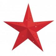 Lanterne Etoile Rouge - 60 cm