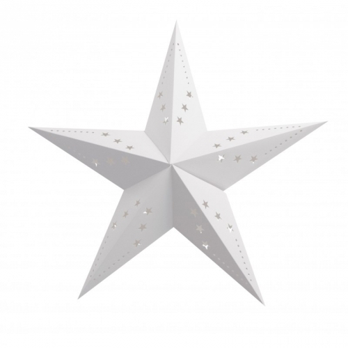 Lanterne Etoile Blanche - 60 cm