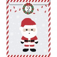 25 Sachets Papier et stickers - Calendrier de L'Avent