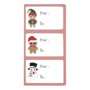 12 Etiquettes Adhésives - Noël