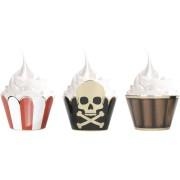 6 Caissettes Cupcakes - Pirate