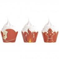 6 Caissettes Cupcakes - Pompiers