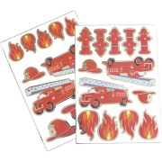 2 Planches de 25 Stickers - Pompiers