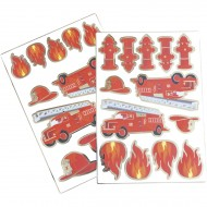2 Planches de 25 Stickers - Pompiers