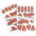 2 Planches de 25 Stickers - Pompiers. n°1