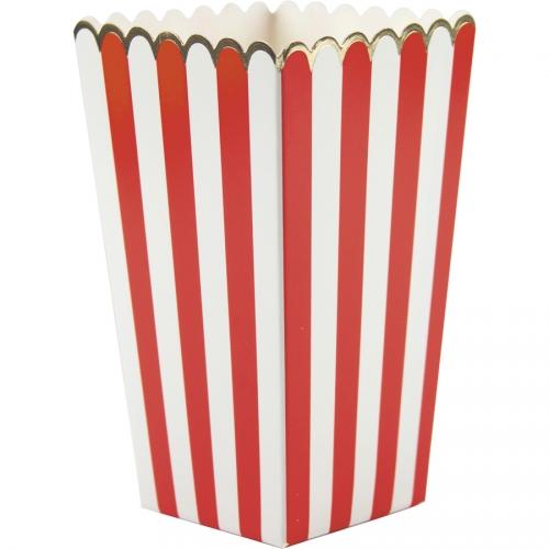 8 Boîtes à Popcorn Rouge/Blanc/Or