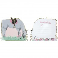 8 Invitations - Cheval d'Amour
