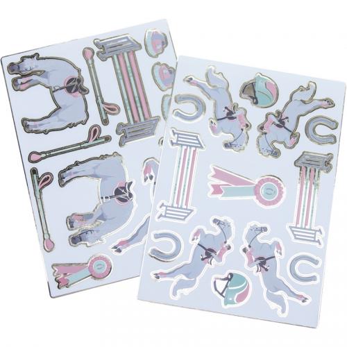 2 Planches de 25 Stickers - Cheval d Amour