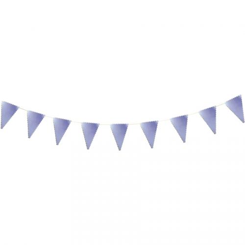 Guirlande Fanions Festonnées Irisée et Or - 3 m