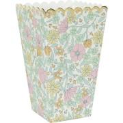 8 Boîtes à Popcorn Shabby et Or