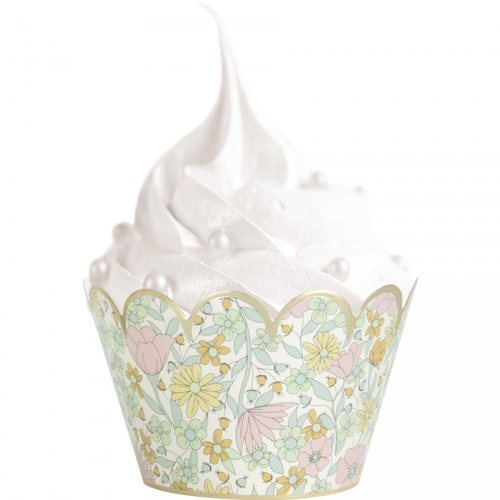 6 Caissettes Cupcakes Shabby et Or