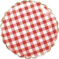 Contient : 1 x 8 Assiettes Festonnées Guinguette
