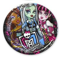 Contient : 1 x 5 Assiettes Monster High 2