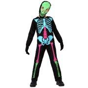 D�guisement de Squelette fluo