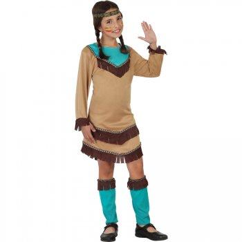 Déguisement d Indienne  Apache Bleu