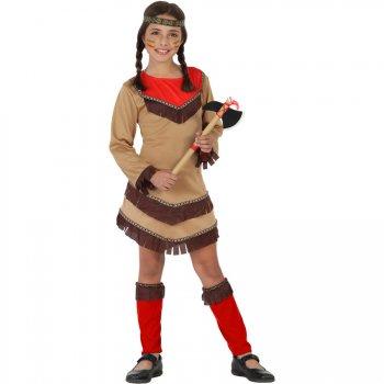 Déguisement d Indienne Apache Rouge