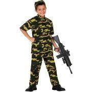D�guisement de Militaire Camouflage Enfant