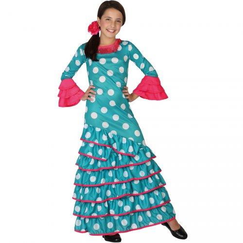 Déguisement Flamenco Bleu et Rose