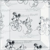 Contient : 1 x 8 Assiettes Mickey et Minnie