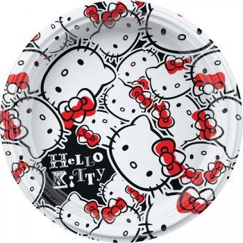 8 Petites Assiettes Hello Kitty Fun