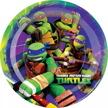 8 Assiettes Tortue Ninja 2