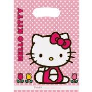 6 Pochettes cadeaux Hello Kitty Tulipe