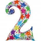 Ballon chiffre multicolore 2
