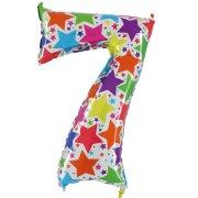 Ballon chiffre multicolore 7