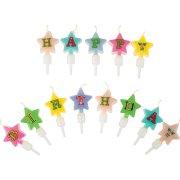 Mini Bougies Etoiles Happy Birthay sur Pics