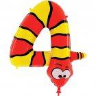 Ballon Animalon Géant Chiffre 4 - Serpent
