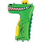 Ballon Animalon G�ant Chiffre 7 - Crocodile