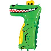 Ballon Animalon Géant Chiffre 7 - Crocodile