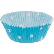 30 Caissettes � pois Bleu