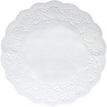 12 Napperons Dentelles Blancs en papier