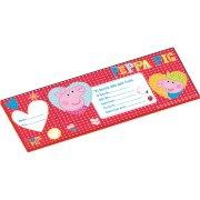Carnet de 20 Invitations Peppa Pig