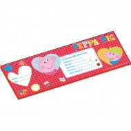 Carnet de 20 Invitations Peppa Pig