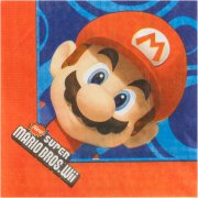 16 Serviettes Mario
